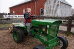 Riding tractors at Kidwell Farm