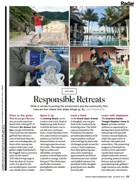 Responsible Retreats