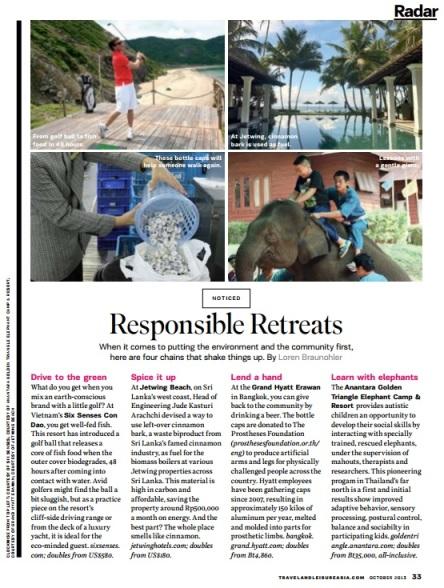 Responsible Retreats
