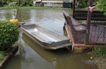 Logan was obsessed with pulling this boat across the klong via an overhead rope