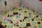 Rainbow cupcakes for the birthday girl