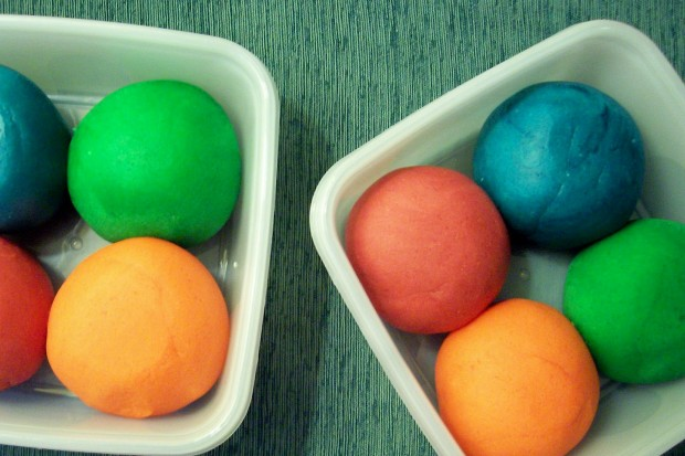 colored play doh